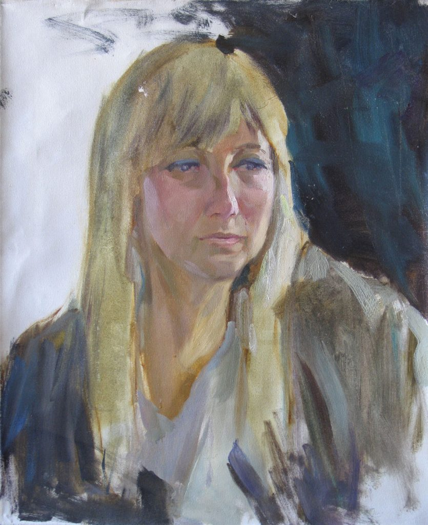 Portrait of a young blond woman