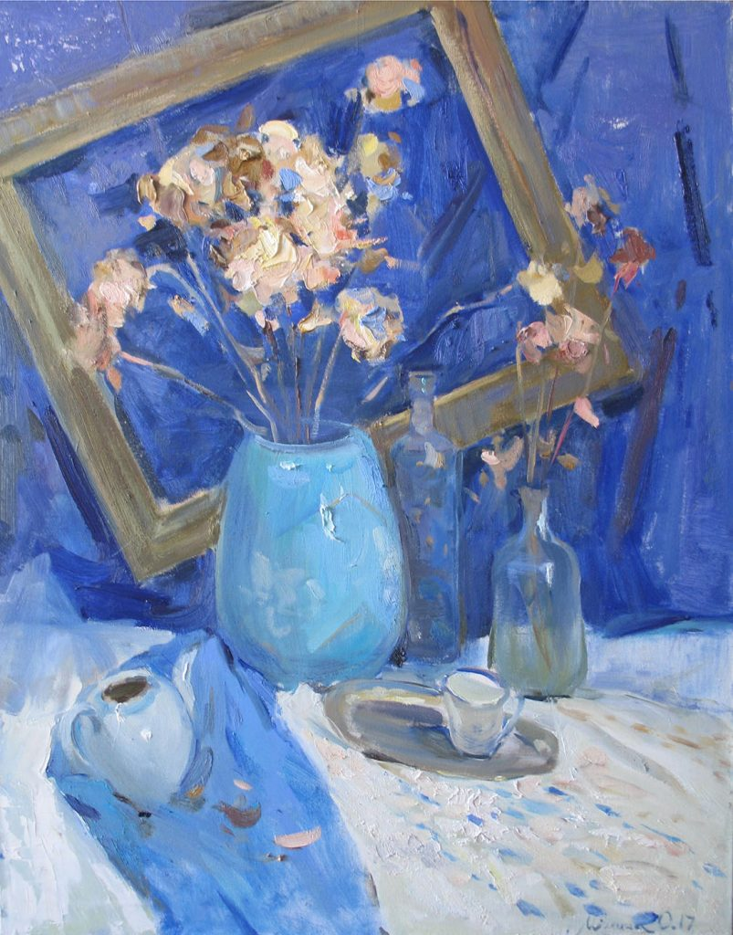 Still life in blue colors
