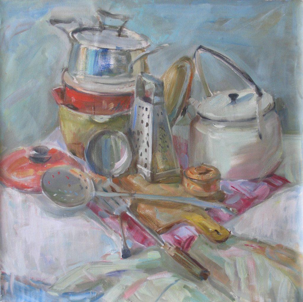 Still life with kitchen utensils