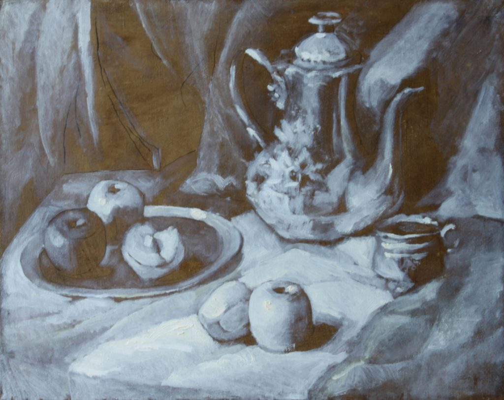 Oriental Still Life (Grisaille)