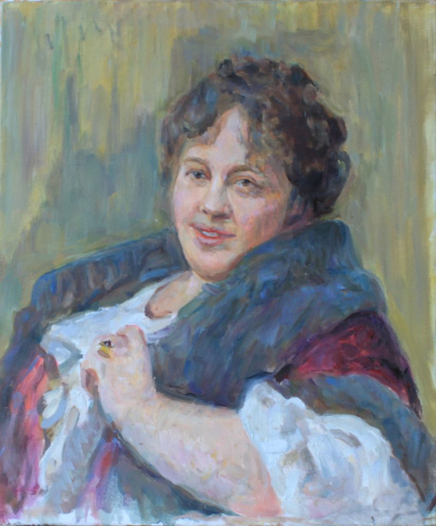 Portrait Schepkina-Kupernik (Copy of the painting by Ilya Repin)