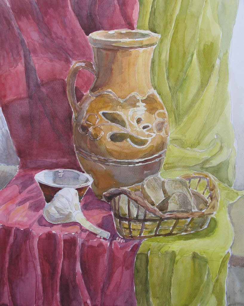 Still life with a clay jug
