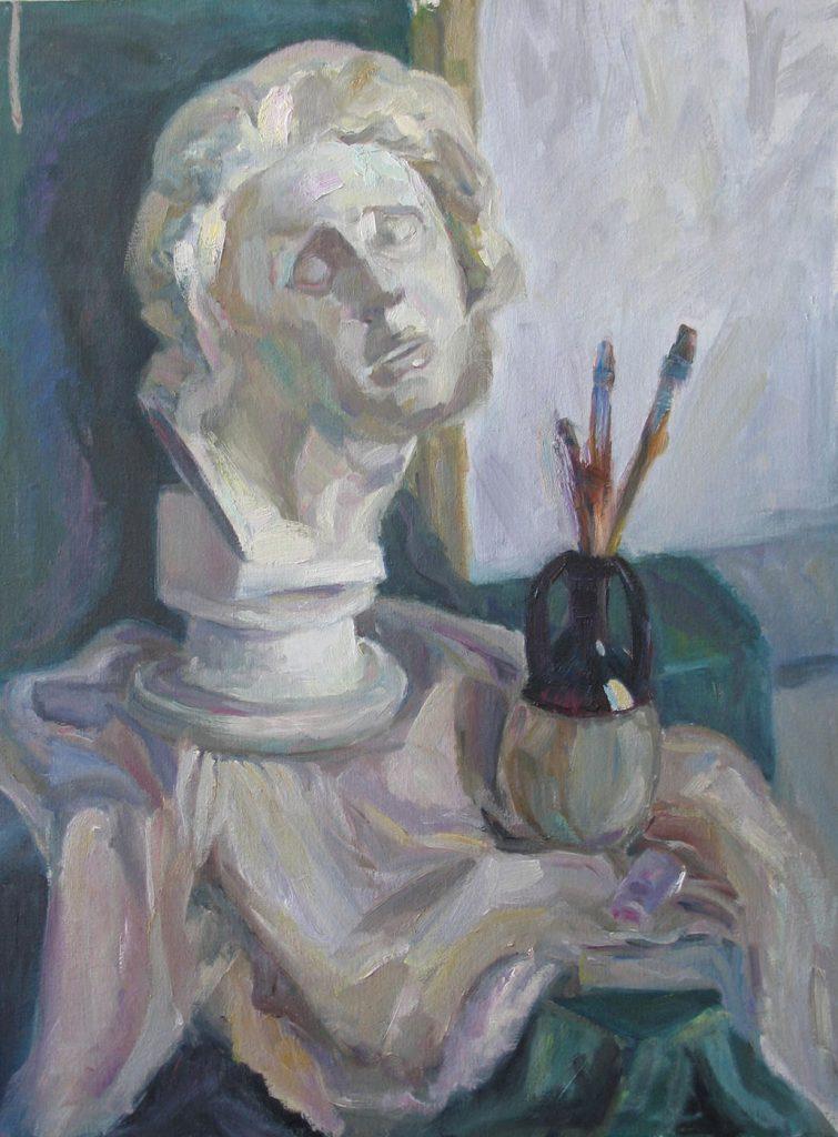 Ostrovskaya Still life with gypsum head Michelangelo Slave