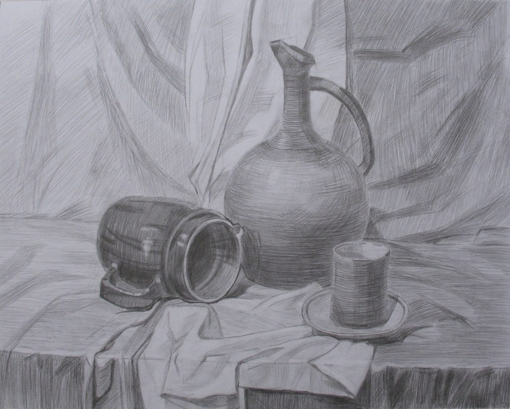Still life with tableware