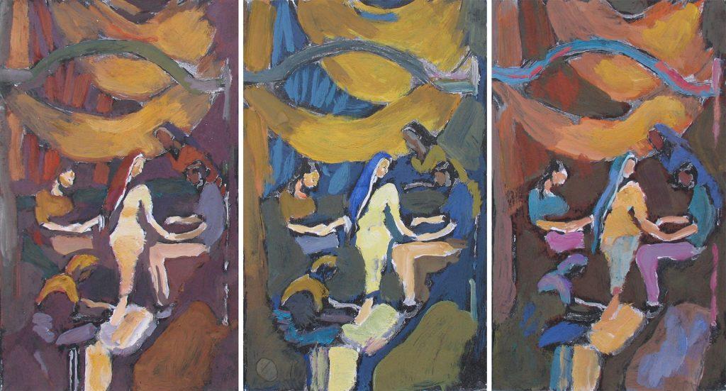 Triptych Mehendi