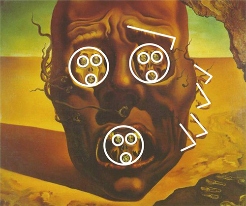 Страх в картинках - Страница 15 Salvador-Dali-The-Face-Of-War-03_